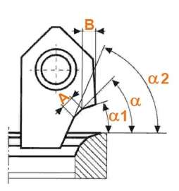 Cuchilla Peimer tipo A1 perfil 1,0mm y 45º STD