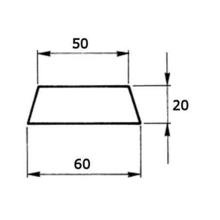 Segmentos para Rect. de Planos 60/50x20x120mm para Aluminio con Precamaras