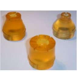 Apoyo de goma de Ø20,00 - 29,00 y 42,00mm para Serdi HVR90 (Set de 3 unidades)