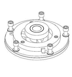 Brida universal para tambores de eje tipo Europeo, 10 agujeros, centrado 271÷300 mm, Ø entre pernos 335 mm (Agujero Ø 50 mm)