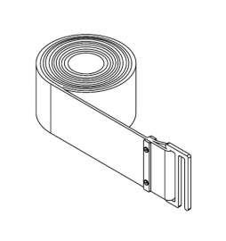 Banda anti vibraciones para tambores de frenos altura 75,00mm