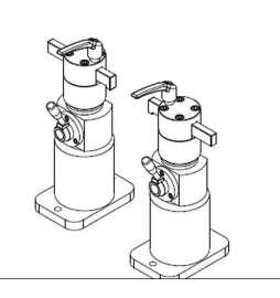 Soporte universal para la fijación de culatas inclinadas u otras piezas, con pletina y 2 apoyos regulables PV0023