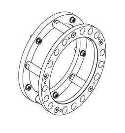 """Anillo de centrado 10 agujeros; Ø entre ejes 335 mm / centrado 281 mm• se utiliza en todos los vehículos con ruedas 22.5"""""""